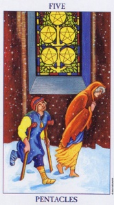 Five of Pentacles/Coins