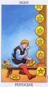 Eight of Pentacles/Coins