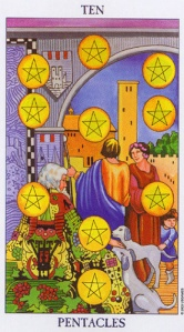 The Ten of Pentacles/Coins