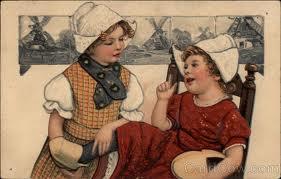 Two Dutch Children Talking